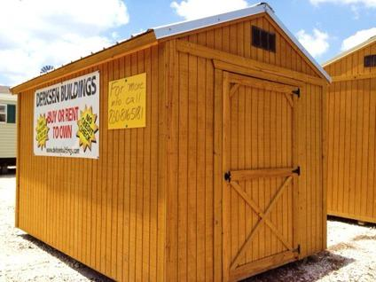 $1,755 8x12 Utility Building