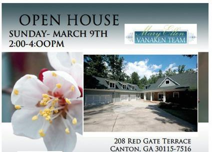 Canton Georgia Home For Sale Open House