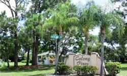 Cute 3 bedroom, 2 bath single-family home in Colony Pines with many nice qualities - including volume ceilings, many planter shelves throughout, tile in main living areas, sliding doors from master bedroom to the screened lanai, and a 2-car garage. This