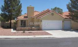 Single Story home in established neighborhood close to services and amenities. Large living room with cozy fireplace, dining room , large kitchen with breakfast area, covered patio. 3 car garage! To get pre-qualified please call Larry Garlutzo at (702)