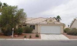 One story home in a guard gated community. Tile flooring throughout living and dining area. Open kitchen with solid counter-tops. Cozy two way fireplace. Great Home! To get pre-qualified please call Larry Garlutzo at (702) 355-3228 or email at