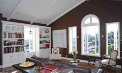 Prestigious penthouse in The Colonial House, home to Hollywood's elite available, for lease. Stunning unit with unobstructed views, spacious and luminous living room with fireplace, formal dining room great for entertaining, gourmet kitchen with top of