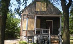 Three bedroom home in Chicago with one full bath. Some interior work to be done, but great bones to work with. Nice lot with mature trees. The main living area has a living room, dining room and kitchen. Full basement for additional storage. This property
