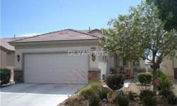 Welcome to Sun City Aliante! Popular Heather model! 2 bdrms, 1 3/4 baths, 2 car garage, aprx. 1,157 sq.ft.! SID's are paid in full! Well maintained home in 55+ golf course community with many amenities! Beautiful granite counter tops, diagonal tile