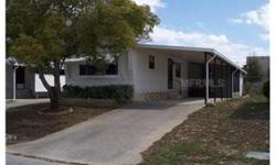 SOLD AS-IS, MAKE OFFER ON THIS VERY LARGE 14FT WIDE SINGLEWIDE 2/1/1 CAR CARPORT. HOME OFFERS A MASTER BEDROOM WITH A LARGE CLOSET AND DIRECT DOOR ACCESS TO FULLSIZE BATHROOM SHOWER/TUB COMBINATION. A 2ND BEDROOM IN THE HALLWAY WITH MEDIUM SIZE CLOSET AND