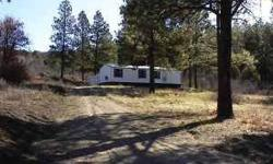 Do you want to live in the mountains? Perfect starter home or summer vacation home, in Pagosa Springs,Colorado. 1997 Mobile on 2.5 acres. Home is around 740 sq ft. 1 large bedroom(master) 1 small bedroom, could be used as an office,1