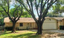 Beautiful 3-2 with vaulted ceilings, brick wood burning fireplace, open kitchen with recent appliances and breakfast bar. New carpet and wood fence, fresh interior and exterior paint, recent tiled shower, walk-in closets, enclosed covered patio and more.