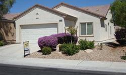 Welcome to Sun City Aliante! Popular Primrose model! 3 bdrms, 1 & 3/4 baths, 2 car garage, aprx. 1,420 sq.ft. featuring separate master bedroom w walk in closet, open floorplan w neutral colors, covered patio and more. 55+ golf course community with