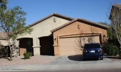 Well maintained 3BD/2BA home in Rogers Ranch. The home features north/south exposure, open floor plan, ceramic tile in the kitchen, hallway and bathrooms, wood blinds throughout, covered patio and a master bathroom with double sinks and separate shower