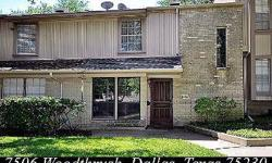 Terrific location,$40,000 price reduction for quick sale.beautifully maintained townhome,gated to parking area. Karen Richards is showing 7506 Woodthrush Dr #23 in Dallas, TX which has 3 bedrooms / 3 bathroom and is available for $134900.00. Call us at