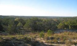 5 acres +/- with great texas hill country location and a never ending view.