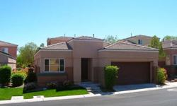 Immaculate & Charming FULLY TURNKEY FURNISHED 2 Bedroom/2 Bath One Story Home In Peaceful Gated Community w/Pool & Spa In The Heart Of Summerlin! Great Room Floorplan w/Living Room w/Fireplace and Open Kitchen w/Tile Breakfast Bar & Spacious Nook Area!