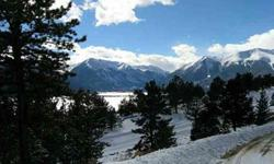 Prime lot in an upscale neighborhood. 1 of the best views on the hill overlooking twin lakes and several 14ers.