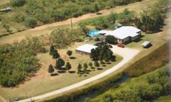 Very quite & peaceful country home north of Merkel 15 miles west of Abilene. Spring is right around the corner don't miss out on owning a beautiful manufactured home on permanent foundation located on 17.56 acres. Has 30X40 garage & shop area with office