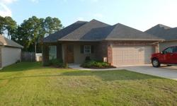 Spacious 3 Bedroom / 2 Bath built in 2010 and located in Claiborne School Zone. Features include open floor plan with vaulted living room ceiling. Slate tile kitchen counter tops with white antique finished cabinets. Master bedroom has inset ceiling and