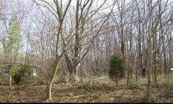 Lot is wooded and located in a water oriented community.