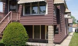 Beautifully maintained home with related living/in-law arrangement. 2 bedrooms, 1 bath, LR & DR, eat-in kitchen on main level. 550 sq. ft. related living on LL, walk out basement 2 steps below grade w/1 bed, 1 bath & full kitchen. Oversized Chicago lot