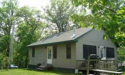 Perfect get-away cabin! Just like new! Start making memories right away. Nice shoreline with a great water clarity. Everything stays other than a few minor items. This cabin is really cute and tastefully done. Vaulted knotty pine ceiling, paneled doors,