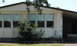 This is a 1983 doublewide for $18500 with 2/2 and 1440 SqFt. This home is very large with a carport, shed, screened in front patio, and is very open. It's a 40+ community, pool access, and pets ok. 727-807-7088