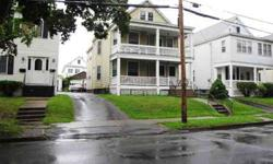 1250 sq ft/flat easily/always rented. 2 Car gar, open front porches, hrdwds (under carpet), good sized BR's eat in kitchens & tiled baths. Can be bought packaged with 114 Winthrop & 45 S. Pine, a great portfolio builder or way to gain equity by ownr occ