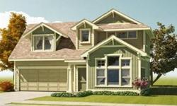 The Aspen by Greenstone Homes. Great room floorplan includes huge bay windows that flood the living room with natural light. Kitchen features Silestone countertops & island, slide-in smooth top range, pantry, built-in desk & informal dining space. Kitchen