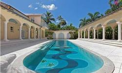 """A RARELY AVAILABLE OPPORTUNITY TO AQUIRE ONE OF THE LARGEST BEACHFRONT PARCELS IN THE HEART OF DOWNTOWN OLDE NAPLES. This unique historic beachfront estate designed by the famous social archiect """"Addison Mizner"""". Encompassing two oversized lots (possible"""