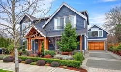 Prime, downtown Kirkland location! Walk to waterfront parks, fine dining & shopping. This custom craftsman offers the ideal venue for entertaining both indoors & out. Dramatic great room featuring a masterful, slab granite kitchen & 2-story family room