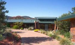 Bank Owned Luxury Estate Home for sale in Sedona Arizona! A private enclave, gated community with only 4 other home sites and this property is situated on over 10 Acres with stunning views of Red Rock State Park! The main house features walls of windows
