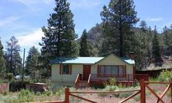 QUAINT AND COMFORTABLE MOUNTAIN GETAWAY IN RAINBOW SUBDIVISION. NATURAL LIGHT, ROOMY, PANORAMIC VIEWS, OVER 400 SQFT MASTER SUITE, LIVING ROOM WITH WOOD BURNING FIREPLACE & KITCHEN WITH BREAKFAST BAR - OPEN TO EACH OTHER. APRX. .22 ACRE CORNER LOT. METAL