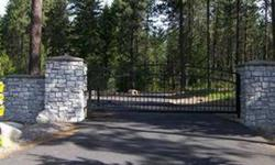 Unique executive homesite, last available site (of original six) in this private gated neighborhood, 9.24 acres, big trees, potential views to the north, premiere designer - john saylor home plans included with purchase.