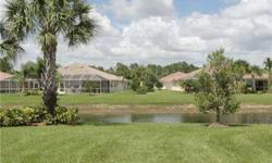 Move-In Ready! This 2BR+Den home in Verona Walk has a Paver driveway, relaxing views of the canal and a great screened lanai to sit and enjoy the Florida lifestyle. The kitchen has Corian counters, a Breakast bar and is open to the Living Room/Dining are