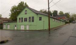 INVESTMENT OPPORTUNITY-Outstanding Location! One-of-a-kind building with excellent visibility sits on corner of two city streets in historic Port Jervis NY. Close to train and major hwy(I-84). Great rental income potential-currently used for warehousing