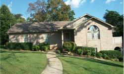 5 bedroom, 3 bath brick rancher in private subdivision with lake access. The upstairs features the master suite, with dual closets and bathroom with jacuzzi tub, and an open floor plan for the kitchen, living room, and dining room. Entertain your friends