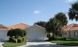 Spectacular lakeview from this spacious, turnkey 2 bedroom + den Capri model with 2 car garage. Lovely villa home with striking lighted mirror wall in the Great Room and custom built-in raised panel cabinetry. Wonderful Florida room created with thermal