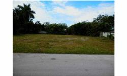 A vacant lot in Coral Ridge Galt Subdivision