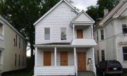 Investors take note of this Schenectady 3F! It will be a good money maker with some repairs! It has some vandalism damage, mostly in the 1 BR apartment. Building has major components (hot water heaters, etc.). Easy to show, NO power & boarded up, so bring