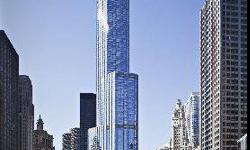 Enjoy the Best Living in the City! Trump Tower offers a spectacular living experience. Spacious 2 bedroom plus den/family room 3 baths with dramatic curved living/dining room. Beautiful panoramic views with no obstructions from all rooms. Enjoy the lake,