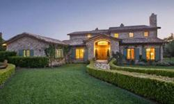 Ambercrombie Estates~ The Vast and magical Santa Monica Mountains provide a profound back drop for this exquisite Italian Villa Equestrian property. Set on a premier 10 acre parcel, this extraordinary Villa boasts a spacious yet comfortable interior flow