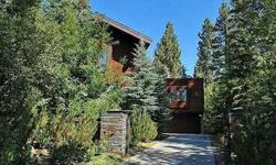 Modern masterpiece meets Tahoe Charm in this incredible once in a lifetime location. A river runs through it ... this home was designed around Incline Creek a year-round creek...a glass enclosed breezeway allows you to walk over the creek to your home
