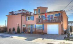 Stunning Ocean Front Contemporary Beach House!! Open & Inviting floor plan with hardwood floors thru out! Gourmet Kitchen, Living Room, Dining Room, Den/Family Room, 3 Bedrooms, 3.5Baths, handicap access with elevator and ramp. Roof Top Deck, garage,
