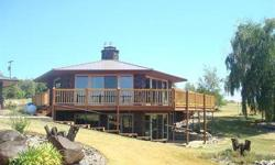 Unique custom daylight rancher on 27+ acres & 58X60 shop with office, restroom & shower. Open bright floor plan. All new windows & sliders. Super new deck & railings. Golden teak wood flooring, new fireplace inserts (propane), new main floor knotty pine