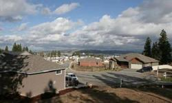 2012 Home show entry, the standard features most think are custom options, slab granite, hardwood & tile floors, craftsman styling & great room plan, Large 3 car garage & views of the Valley & Mt. Spokane. A gated community that is quiet & secure. 1648 sq