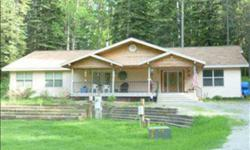 For Sale 5 acres with majestic trees and 3 bdrm, 2 bath large 2,820 sq. ft. Ranch-style home. Vaulted ceilings, open floor plan, large Kitchen with granite countertops, hickory cabinets, built-in stove top and oven, and pantry. Dining room can accommodate