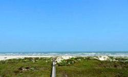Heavenly spot to build your dream home....the gulf is your back yard...on the beach with low dunes...view this beautiful part of prestigious mustang island all day long...gulf waters resort provides a swimming pool, new beach walkover, clubhouse and on