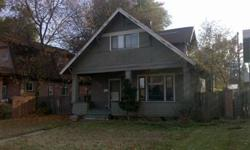***Bank approved Short Sale Price*** Good Potential! Pleasant floorplan; 2 bedrooms, 1 bath upstairs with formal dining, open kitchen and a fireplace. Newer gas FA furnace. Home needs top to bottom remodel. Great curb appeal with a covered front porch and