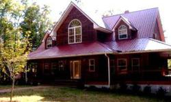 Fully furnished 3BR/3.5BA home on 7.58 acres, stainless appliances, tin ceiling, 2 gas log fireplaces, wraparound porches, large barn with storage, zoned h/a, finished basement & more.Listing originally posted at http