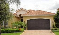 Move-In Ready home in terrific location! This wonderful Santiago Model home in Marbella Lakes offers a cul-de-sac location, lake view and is ready to sell. All floors are tiled, except for the 2 bedrooms, and there are great Plantation Shutters on the Li