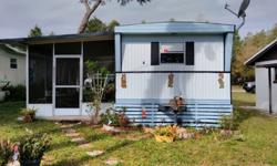 2 bedroom 1 bath s/w in very nice small 55 park close to canal to lake eustis. Low lot rent 5 min to leesburg mall includes refrigerator, stove, wash/dryer, screened porch and shed. $3300 OBO Don 352 253-0478.