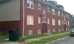 Eight 1 Bedroom units with separate utilities. Needs complete renovation due to theft. Buyer responsible for back taxes ($1400). Sold on QCD. Call (313)702-4412 and leave detailed message for prompt response.