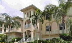 Great buying opportunity at low price in Breakwater! 2nd floor unit with cathedral ceilings, glass enclosed lanai with hurricane shutters. This unit is bright, light & airy with custom window treatments throughout! Master suite has two walk-in closets and